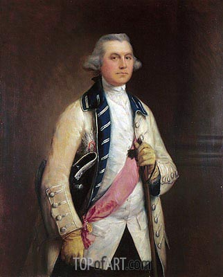 Major General Sir William Draper, c.1765 | Gainsborough | Painting Reproduction