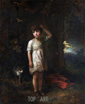 A Boy with a Cat (Morning), 1787 | Gainsborough | Painting Reproduction