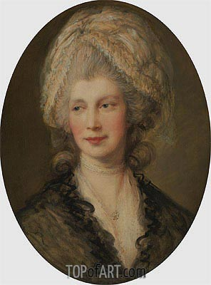 Charlotte, Queen of England, Undated | Gainsborough | Painting Reproduction