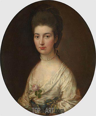 Mrs. Ralph Izard (Alice DeLancey), Undated | Gainsborough | Painting Reproduction