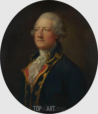 Portrait of a Man (General Blyth), Undated | Gainsborough | Painting Reproduction