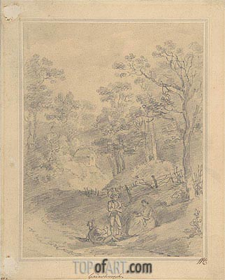 Landscape with Figures, Undated | Gainsborough | Painting Reproduction