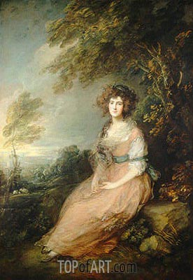 Mrs. Richard Brinsley Sheridan, c.1785/87 | Gainsborough | Painting Reproduction