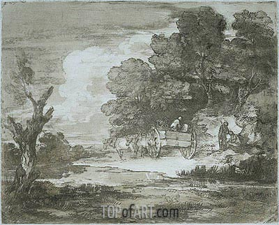 Landscape, 1780 | Gainsborough | Gemälde Reproduktion