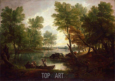 View near King's Bromley, on Trent, Staffordshire, c.1768/70 | Gainsborough | Gemälde Reproduktion