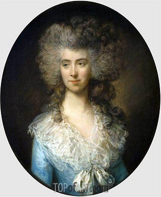 Portrait of a Lady in a Blue Dress, c.1783/85 | Gainsborough | Painting Reproduction