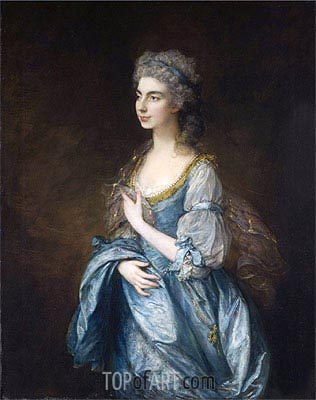 Portrait of Lady Rodney (Anne Harley), c.1781 | Gainsborough | Gemälde Reproduktion