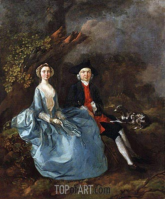 Portrait of Sarah Kirby and John Joshua Kirby, c.1751/52 | Gainsborough | Gemälde Reproduktion