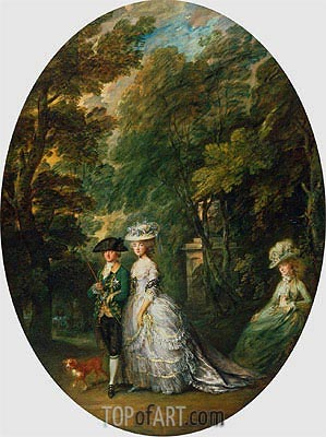 Henry, Duke of Cumberland, with Anne, Duchess of Cumberland, and Lady Elizabeth Luttrell, c.1785/88 | Gainsborough | Painting Reproduction
