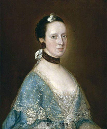 Portrait of Mrs. John Gisborne, Undated | Gainsborough | Painting Reproduction