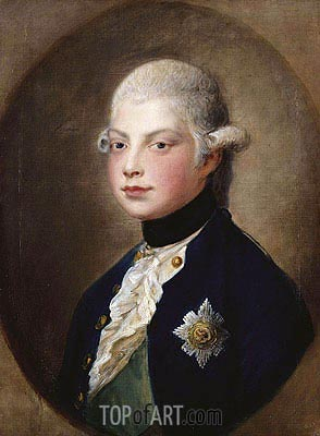 Prince William, later Duke of Clarence, 1782   Gainsborough   Painting Reproduction