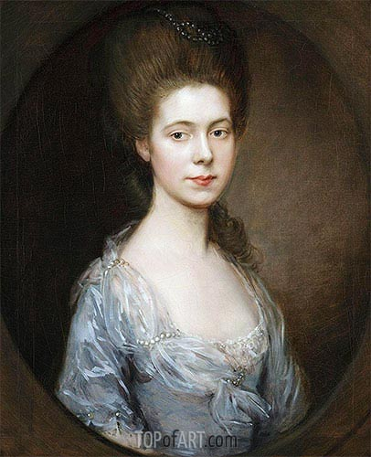 Mrs. George Oswald, c.1770/74 | Gainsborough | Painting Reproduction