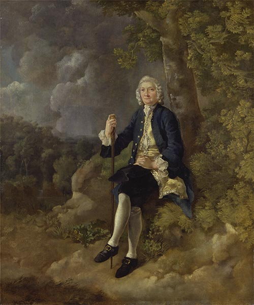 Clayton Jones, c.1744/45 | Gainsborough | Painting Reproduction