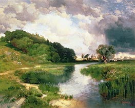 Approaching Storm, Amagansett, 1884 by Thomas Moran | Painting Reproduction
