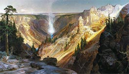 The Grand Canyon of the Yellowstone, 1872 by Thomas Moran | Painting Reproduction