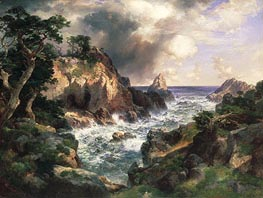 Point Lobos, Monterey, California, 1912 by Thomas Moran | Painting Reproduction