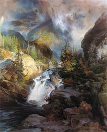 Children of the Mountain, 1866 by Thomas Moran | Painting Reproduction