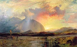 Sunset Vespers at the Old Rugged Cross | Thomas Moran | Gemälde Reproduktion
