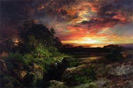 An Arizona Sunset Near the Grand Canyon, 1898 by Thomas Moran | Painting Reproduction
