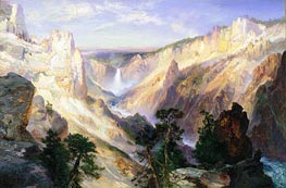 Grand Canyon of the Yellowstone, Wyoming, 1906 by Thomas Moran | Painting Reproduction