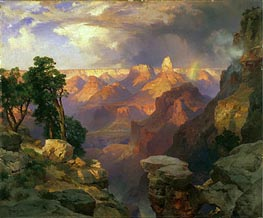Grand Canyon with Rainbow, 1912 by Thomas Moran | Painting Reproduction