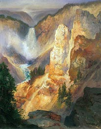 Grand Canyon of the Yellowstone, 1893 by Thomas Moran | Painting Reproduction