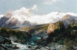 The Teton Range, 1897 by Thomas Moran | Painting Reproduction
