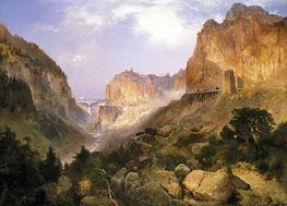 Golden Gate, Yellowstone National Park, 1893 by Thomas Moran | Painting Reproduction