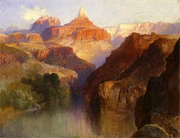 Zoroaster Peak (Grand Canyon, Arizona), 1918 by Thomas Moran | Painting Reproduction