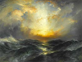 Sunset at Sea | Thomas Moran | Painting Reproduction