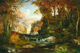 A Scene on the Tohickon Creek: Autumn | Thomas Moran | Painting Reproduction