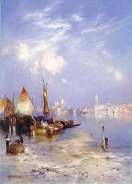 A View of Venice, 1891 by Thomas Moran | Painting Reproduction