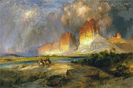 Cliffs of the Upper Colorado River, Wyoming Territory, 1882 by Thomas Moran | Painting Reproduction