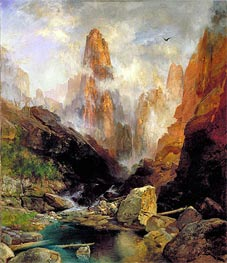 Mist in Kanab Canyon, Utah, 1892 by Thomas Moran | Painting Reproduction