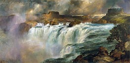 Shoshone Falls on the Snake River, 1900 by Thomas Moran | Painting Reproduction