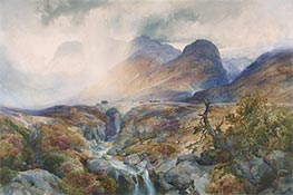 Pass at Glencoe, Scotland | Thomas Moran | Gemälde Reproduktion