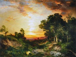 Sunset, Amagansett | Thomas Moran | Painting Reproduction
