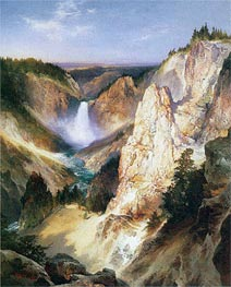 Great Falls of Yellowstone | Thomas Moran | Gemälde Reproduktion
