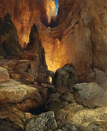 A Side Canyon, Grand Canyon of Arizona | Thomas Moran | Painting Reproduction