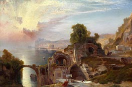 Bay of Baiae, Sunrise | Thomas Moran | Gemälde Reproduktion