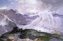 The Musquito Trail, Rocky Mountains of Colorado | Thomas Moran | Painting Reproduction