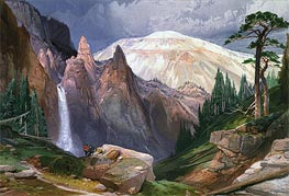 Tower Falls and Sulphur Mountain | Thomas Moran | Painting Reproduction
