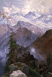 Summit of the Sierras, Nevada | Thomas Moran | Painting Reproduction