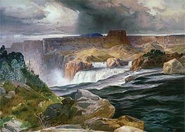Great Falls of Snake River | Thomas Moran | Painting Reproduction