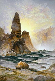 The Towers of Tower Falls, Yellowstone | Thomas Moran | Gemälde Reproduktion
