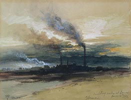 Smelting Works at Denver | Thomas Moran | Gemälde Reproduktion