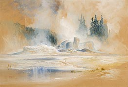 The Grotto Geyser, Firehole Basin | Thomas Moran | Gemälde Reproduktion