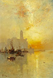 Venetian Seaport, Vera Cruz, 1885 by Thomas Moran | Painting Reproduction