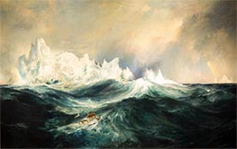 Icebergs in Mid-Atlantic, 1890 by Thomas Moran | Painting Reproduction
