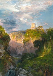 Cortez Tower, Mexico, 1883 by Thomas Moran | Painting Reproduction